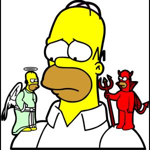 Homer diable