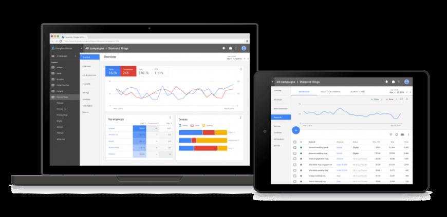 La nouvelle interface responsive Adwords disponible fin 2017