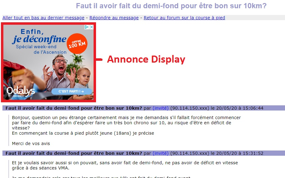 exemple Annonce Display