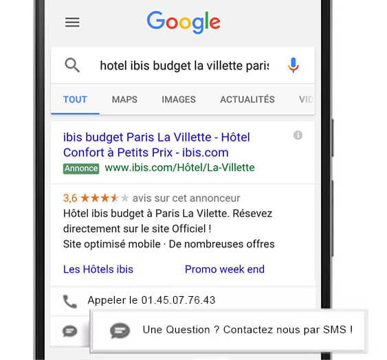 L'extension AdWords Click-to-Text pour le SMS direct
