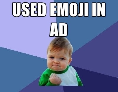 Emoji AdWords
