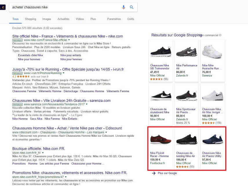 Google Shopping extension