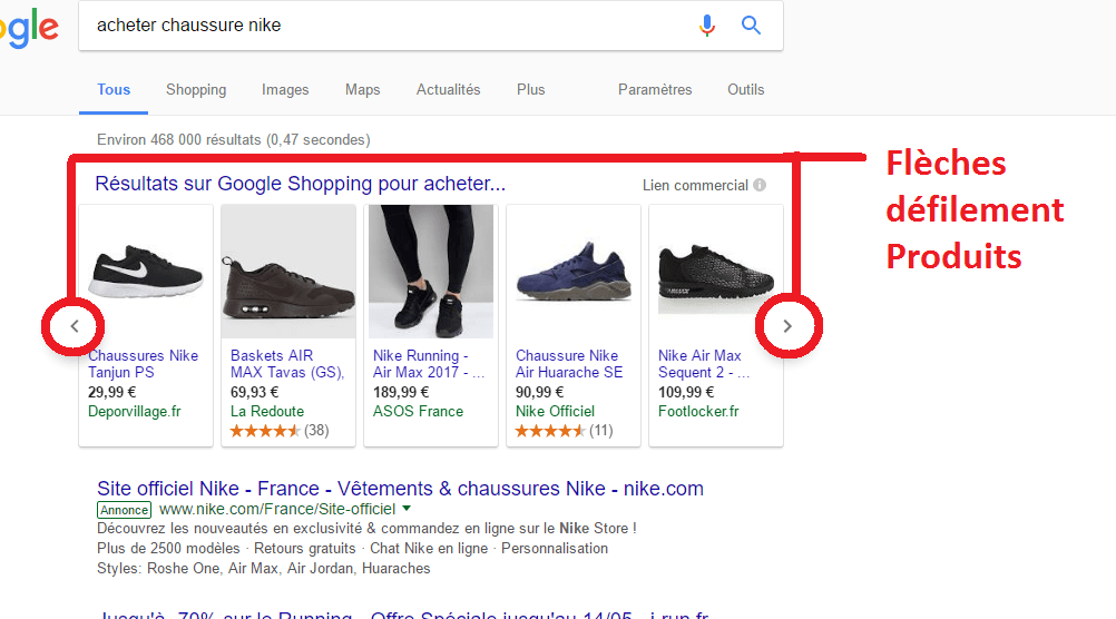 google-shopping-fleches