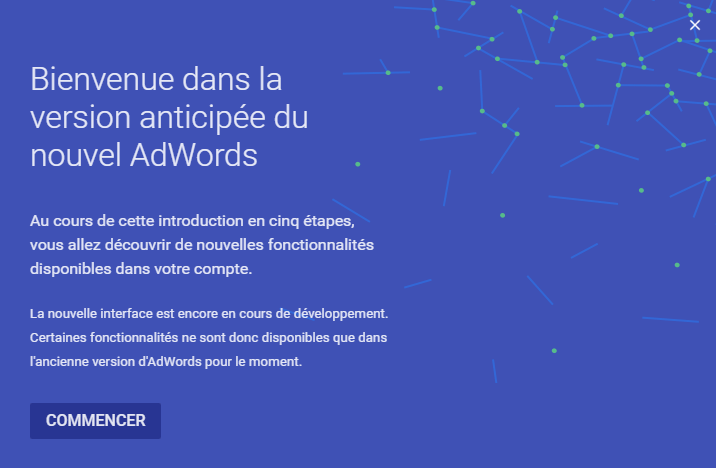 nouvelle version adwords