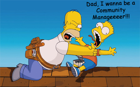 community manager simpsons
