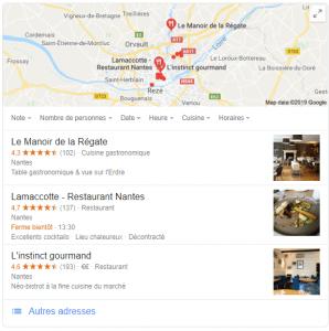 carte google my business