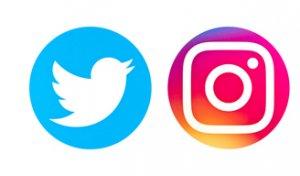 twitter et instagram