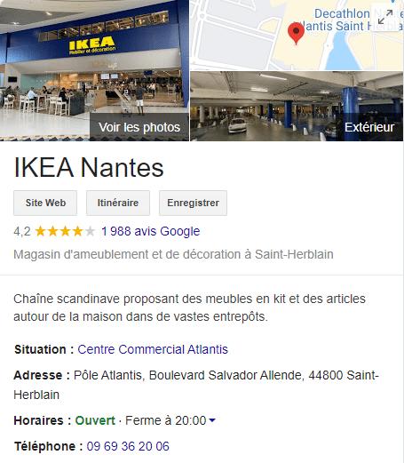 informations entreprise sur google my business