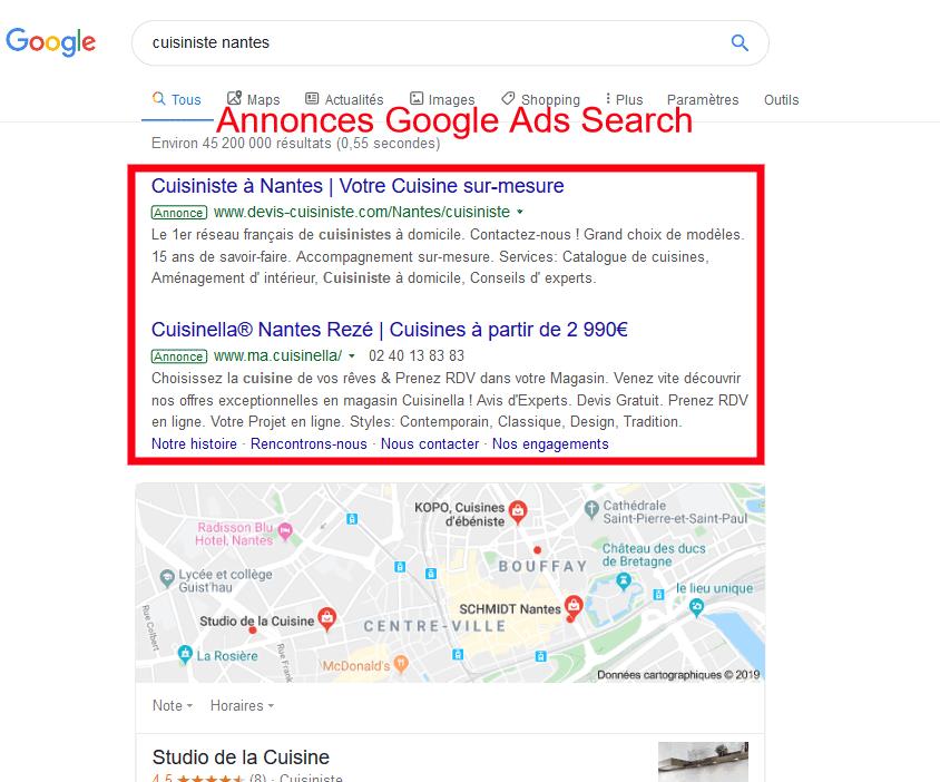 Recheche locale Google