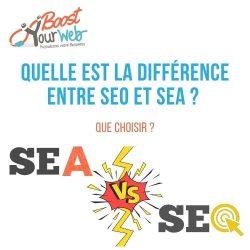 Infographie : SEO vs SEA