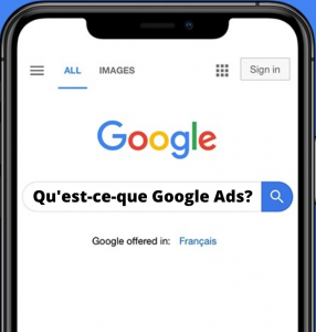 Google Ads recherche mobile
