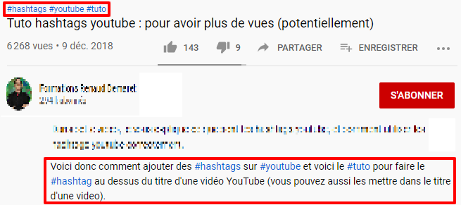 hashtag seo youtube