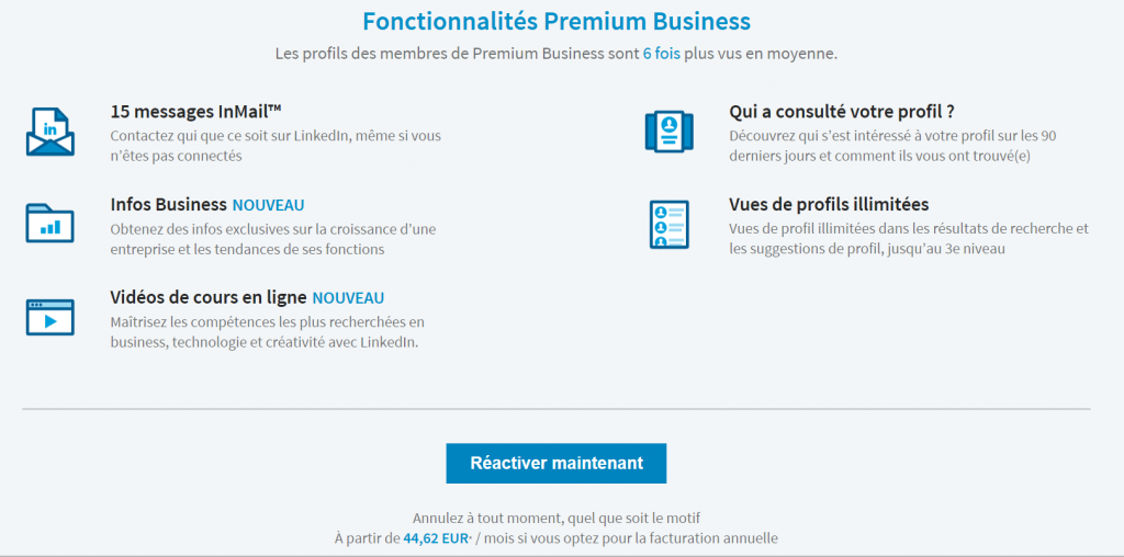 offre linkedin premium business