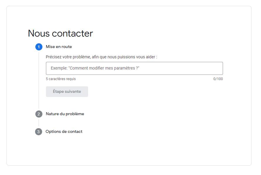 Contacter centre d'aide Google Ads
