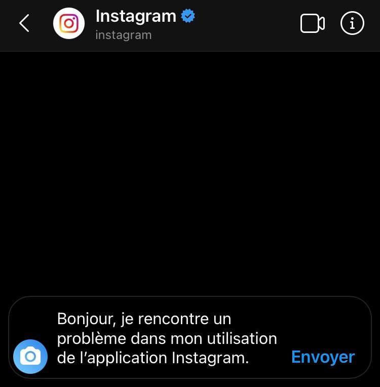 service client instagram