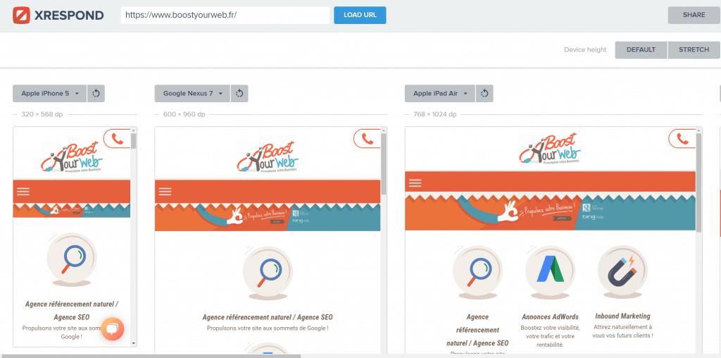 test site responsive google