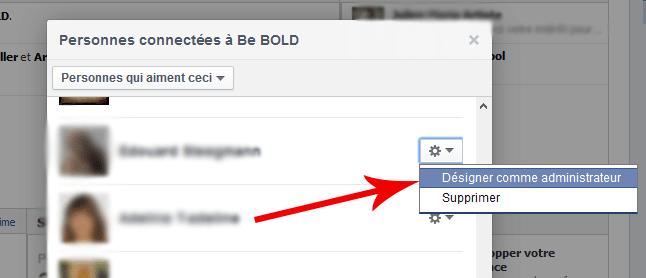 designer administrateur Facebook