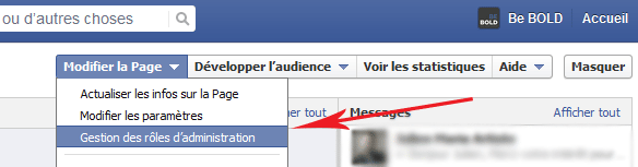 gestion role Facebook
