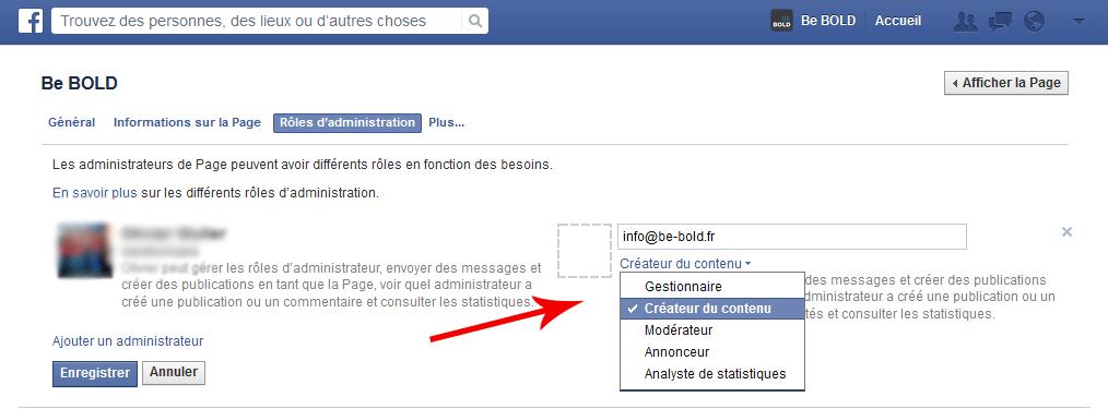 role Facebook