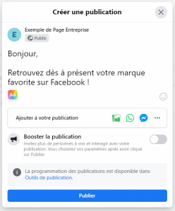 création page pro facebook
