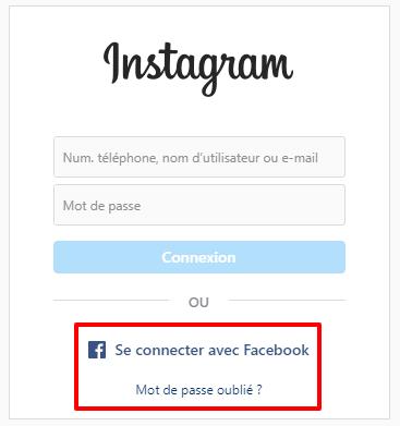 probleme connexion instagram