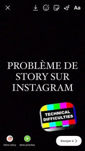 probleme story instagram
