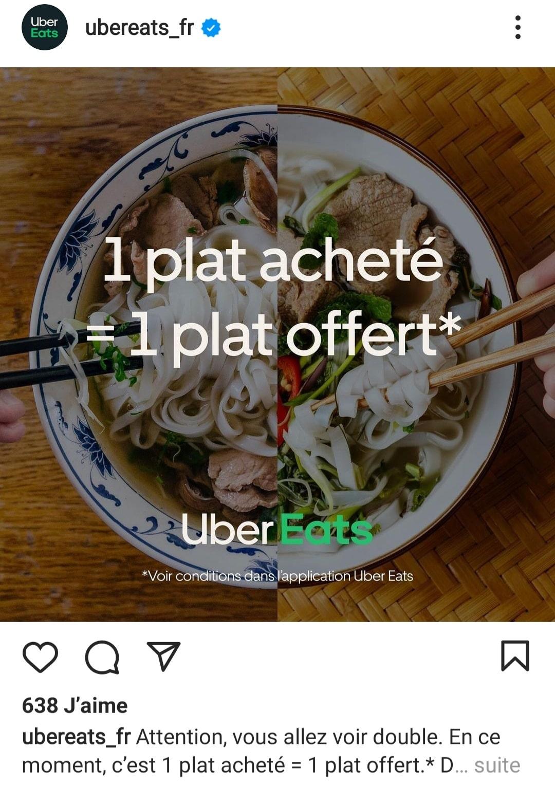 vendre sur Instagram code promo