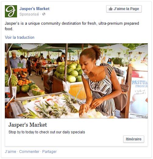 facebook ads format visuel