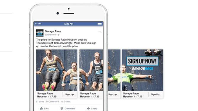 facebook ads formats visuel