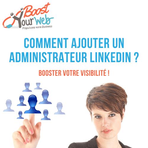 ajouter administrateur LinkedIn