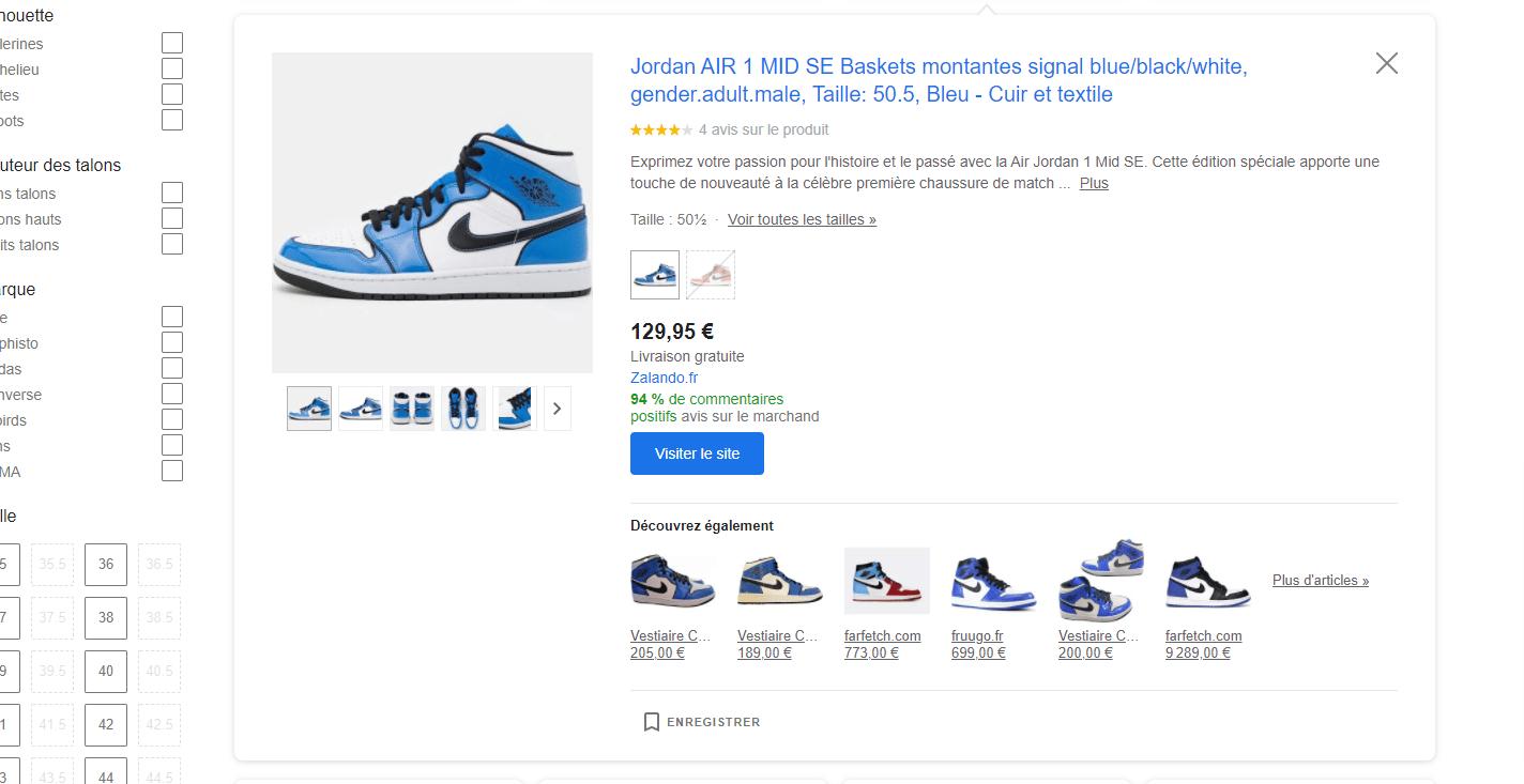 Acheter Google Shopping
