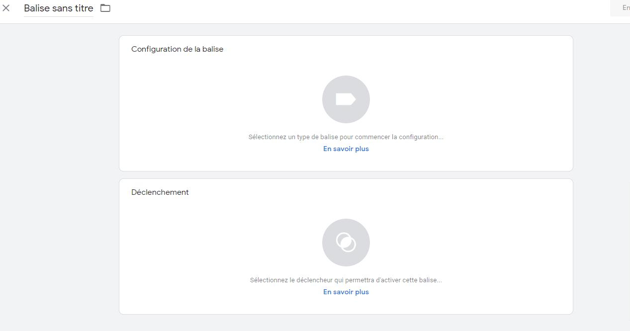 Google Tag Manager Balise