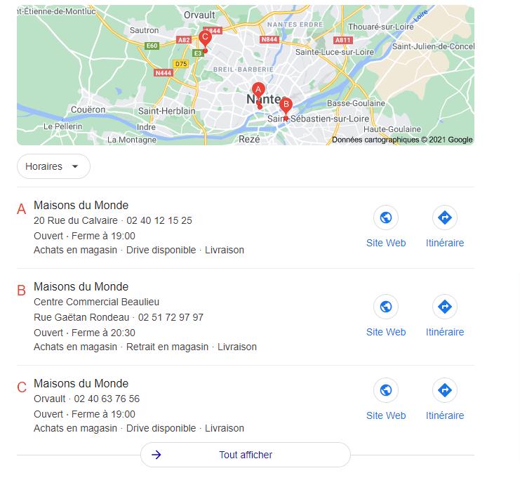 Apparaitre sur Google Maps entreprise