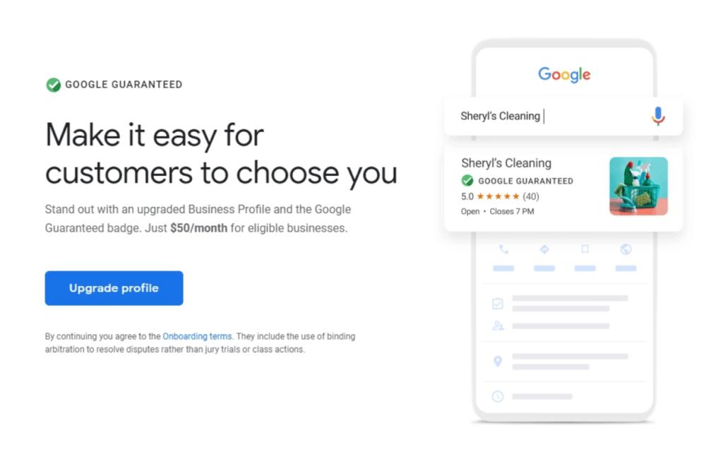 google my business prix